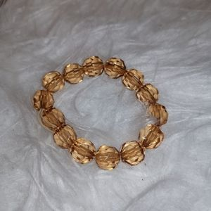 Vintage bracelet stretchy with champagne beads
